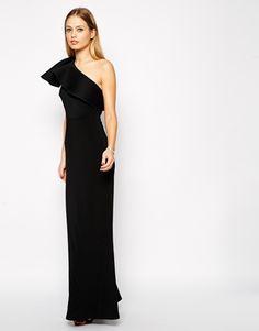 ASOS One Shoulder Scuba Maxi Dress