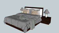 Visualização grande do modelo 3D de bed