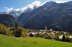 Mountains of Soglio Switzerland