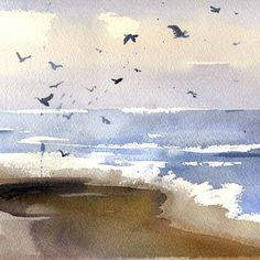 Image result for ocean watercolor painting