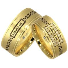 Verighete ATCOM Lux personalizate SARUTA-MA aur galben Aur, Rings For Men, Wedding Rings, Memories, Engagement Rings, Jewelry, Butterfly, Diamond, Schmuck