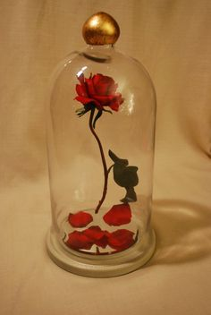 Enchanted Floating Rose reproduction fairy tale prop replica beauty spell beast