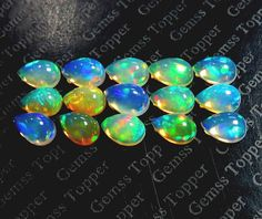 3x5mm Ethiopian Opal cabochon pear calibrated size  by gemsstopper