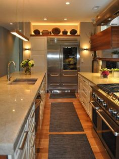 Now that's a galley kitchen