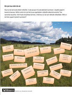 Tulostettavat tehtävät alkuopetukseen – Riistakoulu Opi, Teaching, Writing, Education, Being A Writer, Onderwijs, Learning, Tutorials
