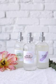 DIY relaxing face mists | designlovefest
