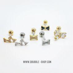 Double Bubble's bow piercings #piercings #piercing #bow #jewelry #jewelrygram  www.dbubble-shop.com
