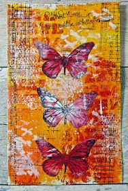 Without Change Gelli Printed Art Journal | Life in a Snapshot
