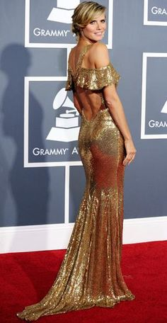 Heidi Klum - Julien Macdonald - Best Grammys Fashion