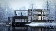 Making of Nordic House by Héctor Javier Diez Valladares