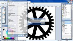 Paint.NET tutorial make a gear template Part-1