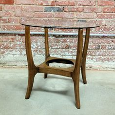Round Teak Table With Glass now featured on Fab.