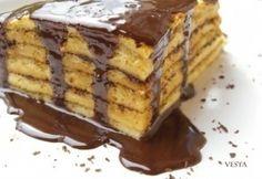 Csúsztatott palacsinta Hungarian Recipes, Pancakes And Waffles, Tiramisu, Food To Make, French Toast, Muffin, Dessert Recipes, Sweets, Homemade