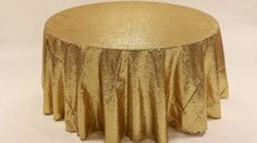 """United States Political Themed Gala inspiration from Goodshuffle.com   Wedding and  Event Rentals. Click to view details of Sequins - Gold Tablecloths (120"""" Round)"""