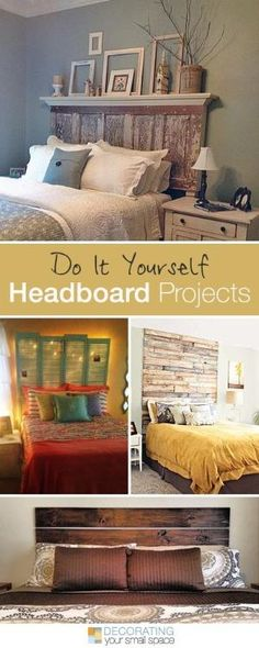 diy headboard love the top one . 16 DIY Headboard Projects Tons of Ideas and Tutorials! Home Bedroom, Bedroom Decor, Bedroom Ideas, Bedroom Fun, Bedroom Designs, Bedroom Simple, Master Bedroom, Diy Headboards, Headboard Ideas