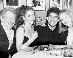Jerry Stiller, Anne Meara, Amy Stiller, Ben Stiller at dinner in New York City in 1991.