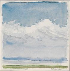 Jane Wilson: Balmy Day. 2006. Watercolor on paper. Whitney Museum of American Art.