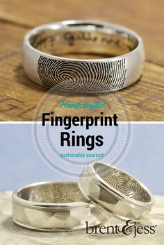 So sweet! Your fingerprints! Handmade in Maine shipped worldwide.
