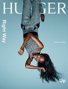 Hunger Magazine's Right Way Up issue, Kai Newman by Rankin