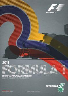 841GP - 2011 FORMULA 1 PETRONAS MALAYSIA GRAND PRIX PROGRAMA Belgian Grand Prix, Australian Grand Prix, British Grand Prix, Bahrain Grand Prix, Singapore Grand Prix, Chinese Grand Prix, Japanese Grand Prix, Russian Grand Prix, Poster