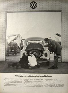1969 Volkswagen Beetle Ad ~ No Place Like Home