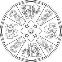Mandala Navideño 2. Para colorear, pintar. imprimir.