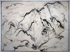 Sumi ink by Northwest Mystic Painter Kenneth Callahan Seattle Art Museum, Sumi Ink, Mountain Tattoo, North West, Mystic, Contemporary Art, Mountains, Fine Art, Artist