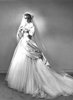 Dior wedding gown, 1949