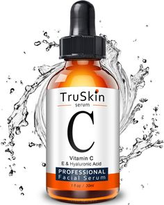 TruSkin Vitamin C Serum for Face, Topical Facial Serum with Hyaluronic Acid - Anti Aging Skin Care - Makeup Natural Best Vitamin C, Natural Vitamin C, Vitamin C For Face, Khloe Kardashian, Dupes, Antioxidant Serum, Skin Care Routine For 20s, Skincare Routine, Drugstore Skincare