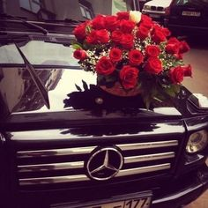 Roses and a Benz I'll take it! :)
