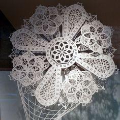 Hermes window display 2013, Paris | logo on paper craft