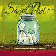 Chef Prints | Frans Groenewald | Flambe, Eau de Toilette , Basil Pesto Africa Art, Out Of Africa, Flambe Recipe, Chefs, Kitchen Art, Kitchen Decor, Basil Pesto, Le Chef, Folk Art