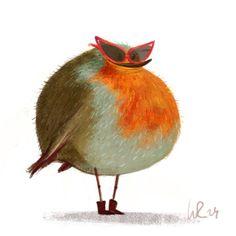 Bird Illustration, Digital Illustration, Animal Illustrations, Sketch Manga, Cute Sheep, Creature Feature, Animal Design, Bird Art, Animal Drawings