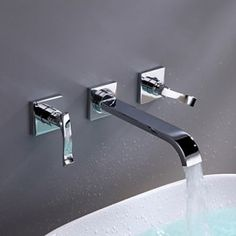 Bathroom Sink Faucet Contemporary Brass Chrome