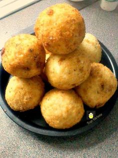 Italian Rice Balls. Easy to make, they take a little time but not hard to do, and of course all worth the effort once you bite into these