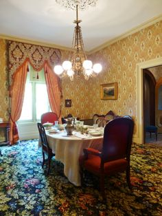 A Final View Of The Dining Room With Its Table Set For Sumptuous Victorian