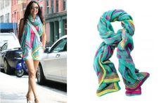 Bethenny Frankel - aqua ikat scarf $59