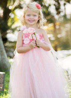 2014 flower girl dresses, Peach Tutu Dress, Pastel pink flower girl dresses www.loveitsomuch.com