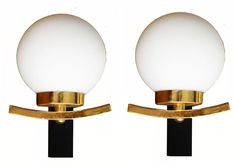 These are fabulous but pricey 1970's French Sconces - A Pair on Chairish.com