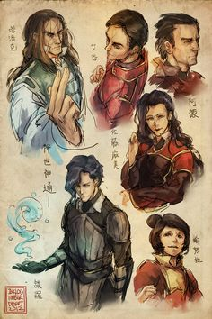 Legend of Korra sketches by *inklou