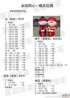 crochet chinese wedding dolls