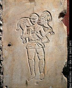 Dobri pastir iz Praetextatusove katakombe, sr. 3. st., Rim
