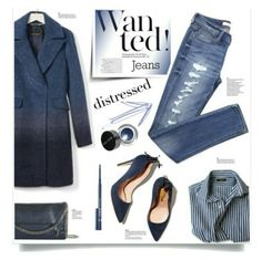 """Distressed Denim"" by makizzlemynizzl ❤ liked on Polyvore"