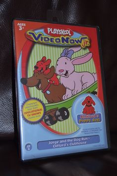 NEW Playskool VideoNow Jr. Video Now Junior PVD Clifford Jorge and the Dog Run #VideoNow