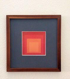 Josef Albers Framed Gallery Brochure Art Mid Century Modern Art Homage To The Square #MidCenturyInteriors#MidCenturyArt#MCMArt#MidCenturyDesign#AbstractArt#MCMDecorativeArts#Art#DecorativeArts#VintageArtPrints#ModernArt