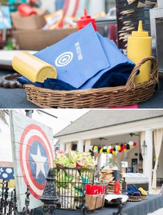 Rustic-Modern Superhero Party {+ Clever DIY Photo Booth} // Hostess with the Mostess® Best Baby Shower Gifts, Baby Shower Signs, Baby Shower Cards, Baby Shower Fun, Baby Shower Themes, Shower Ideas, Superhero Baby Shower, Superhero Birthday Party, 4th Birthday
