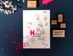 Karten Diy, Happy Birthday, Bumble Bees, New Ideas, Stamping, Happy Brithday, Urari La Multi Ani, Happy Birthday Funny, Happy Birth