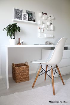 Simple Work Desk And Workspace Design Decoration Ideas 110 image is part of 135 Simple Work Desk and Workspace Design and Decor Ideas gallery, you can read and see another amazing image 135 Simple Work Desk and Workspace Design and Decor Ideas on website Workspace Design, Home Office Design, Home Office Decor, Home Decor, Office Art, Office Desk, Home Office Inspiration, Workspace Inspiration, White Desk Bedroom