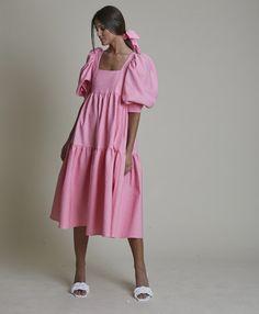 Pink Fashion, Modest Fashion, Fashion Dresses, Dress Outfits, Casual Dresses, Summer Dresses, Vestidos Zara, Oversized Dress, Looks Vintage