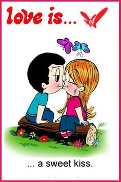 Love is... a sweet Kiss